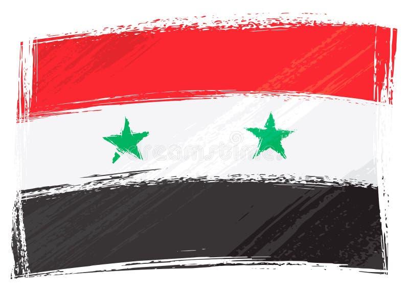 flaggagrunge syria stock illustrationer