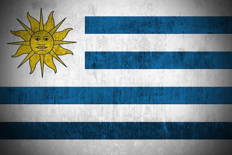 flaggagrunge uruguay stock illustrationer