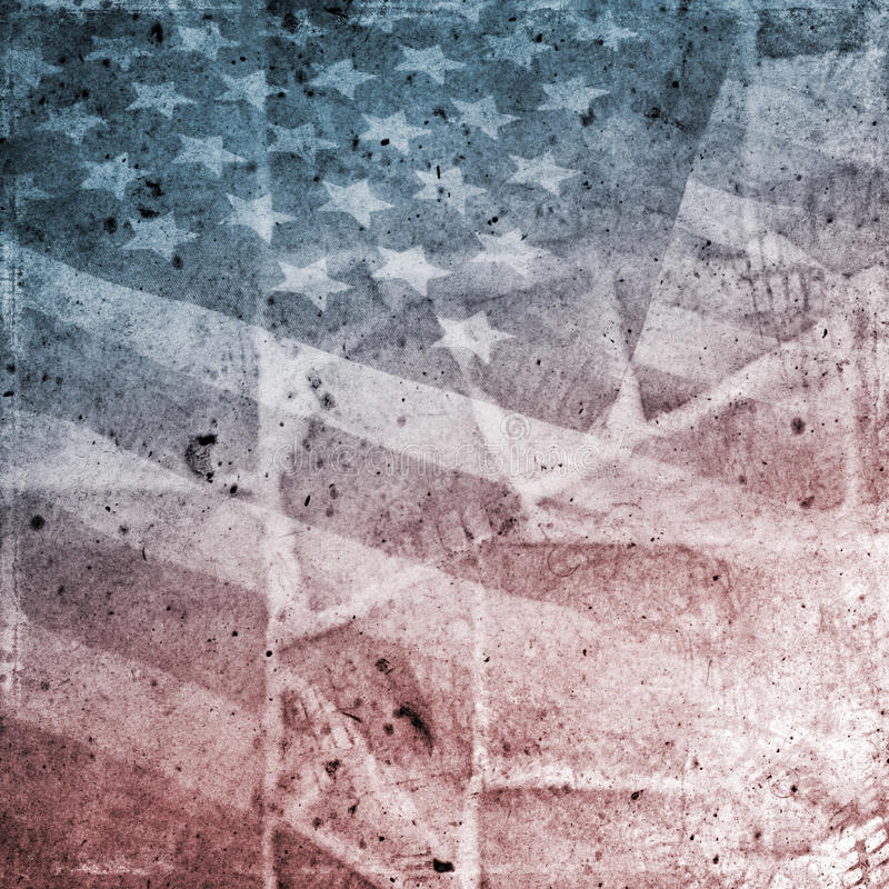 flaggagrunge USA vektor illustrationer