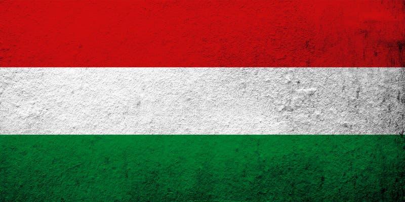 flaggahungary national Kan användas som en vykort vektor illustrationer