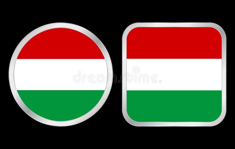 flaggahungary symbol royaltyfri illustrationer