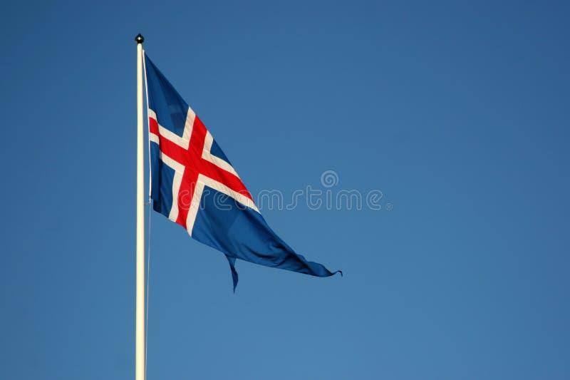 flaggaicelandic royaltyfri bild