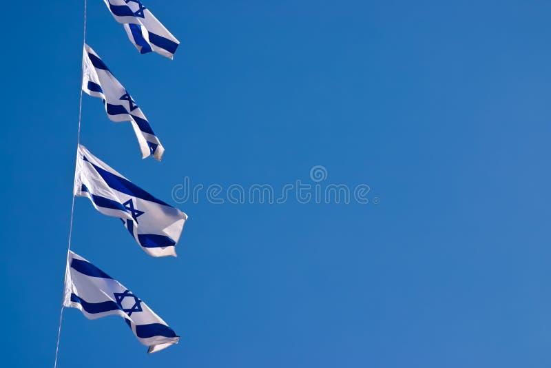 flaggaisrael national utomhus fotografering för bildbyråer
