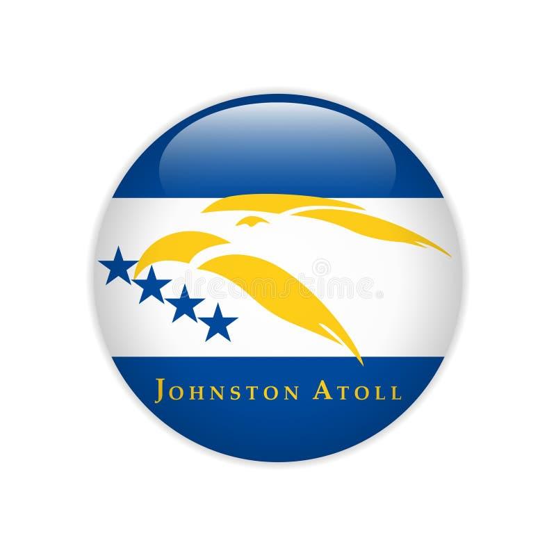 FlaggaJohnston Atoll knapp vektor illustrationer