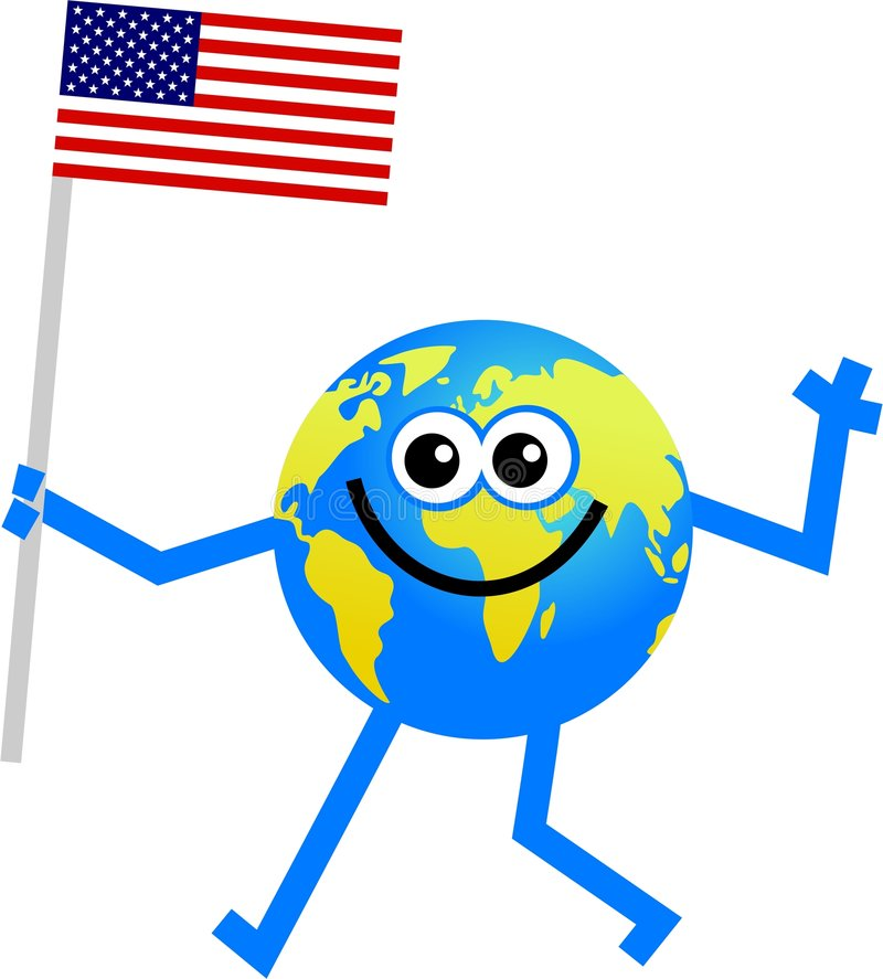 flaggajordklot vektor illustrationer