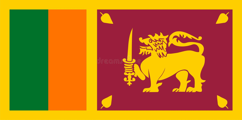 flaggalankasri royaltyfri illustrationer
