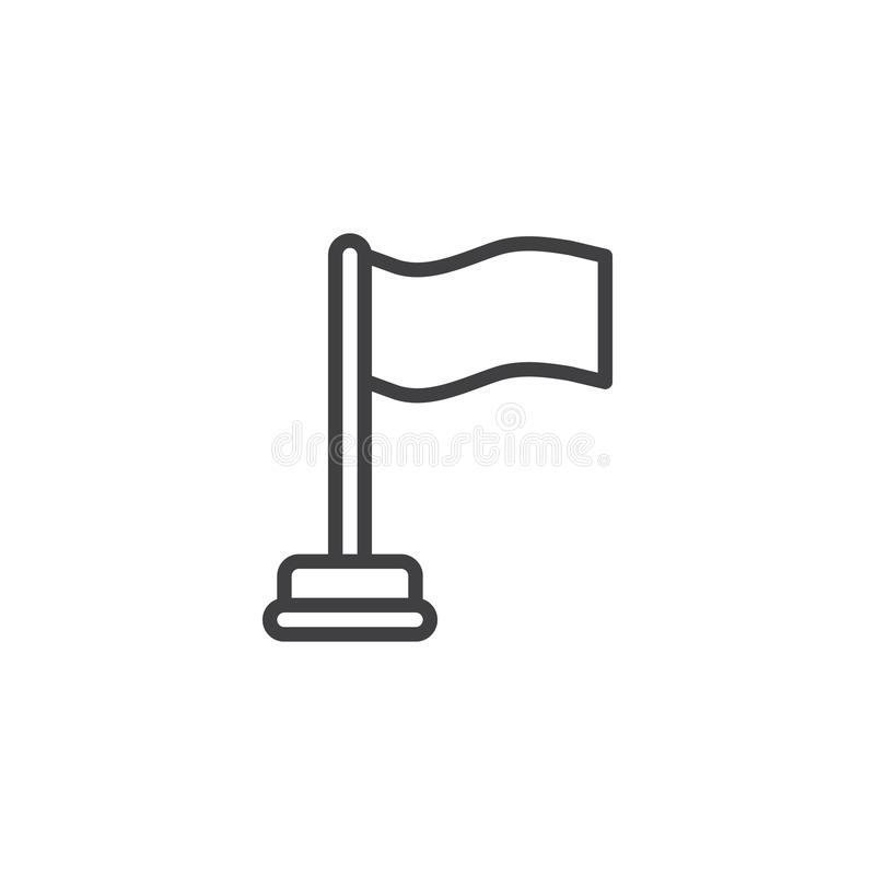 Flaggalinje symbol vektor illustrationer