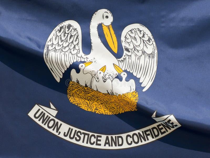 flaggalouisiana tillstånd royaltyfri fotografi
