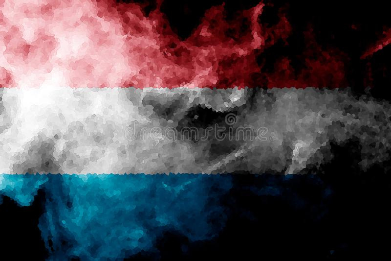 flaggaluxembourg national royaltyfri illustrationer