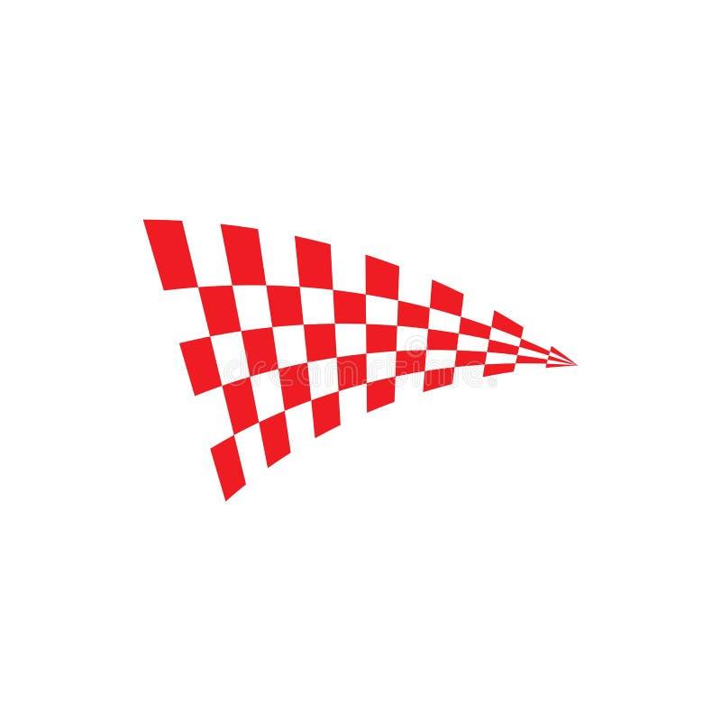 flaggamalllogo och symbolvektor stock illustrationer
