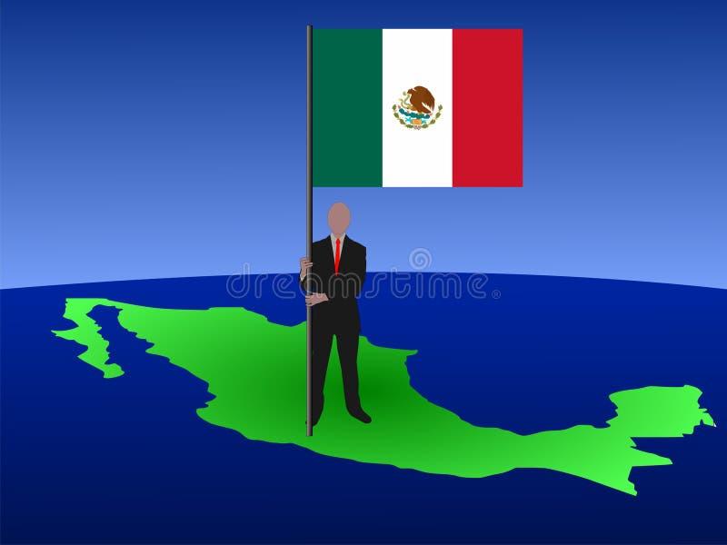 flaggaman mexico stock illustrationer