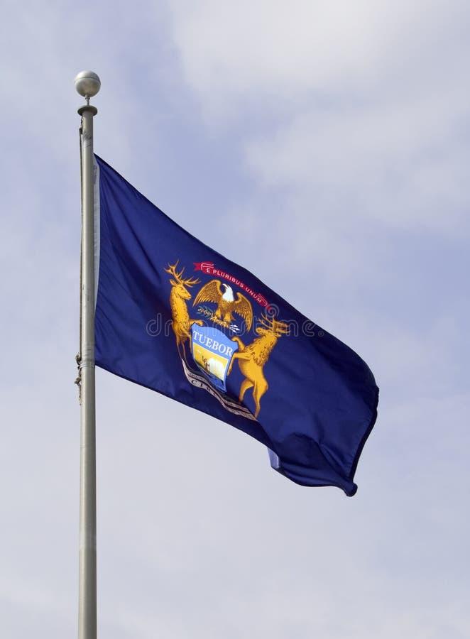 flaggaMichigan royaltyfri bild
