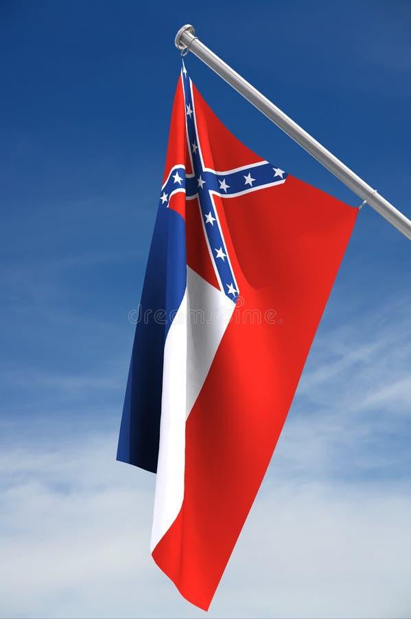 flaggamississippi tillstånd royaltyfri illustrationer