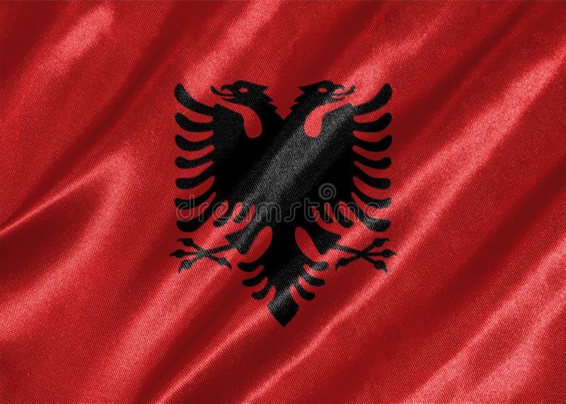 Flaggan av Albanien royaltyfri bild