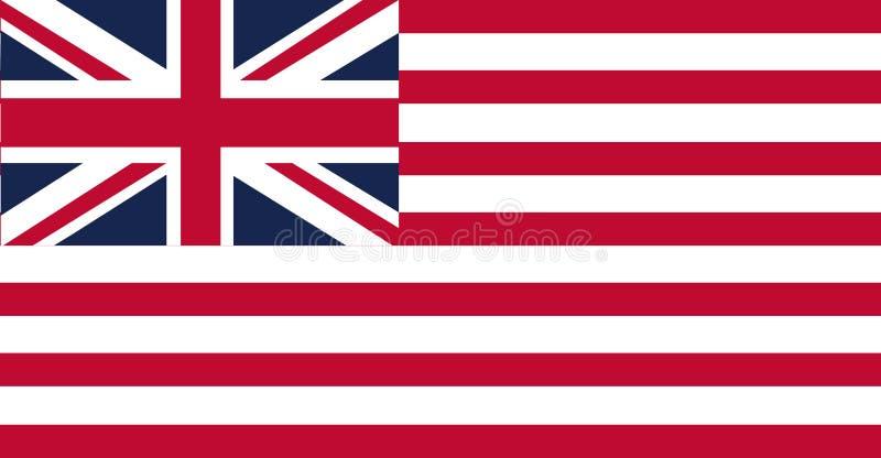 Flaggan av Amerikas förenta stater som ses ofta till som amerikanen och den fackliga flaggan vektor illustrationer
