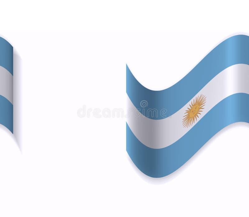 Flaggan av Argentina royaltyfri illustrationer