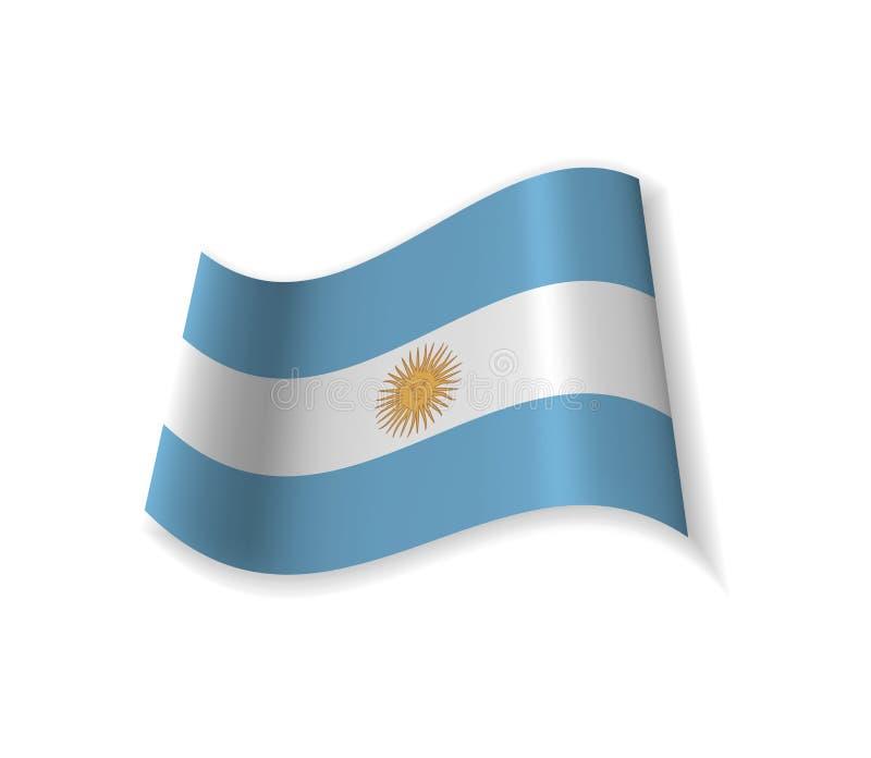 Flaggan av Argentina vektor illustrationer