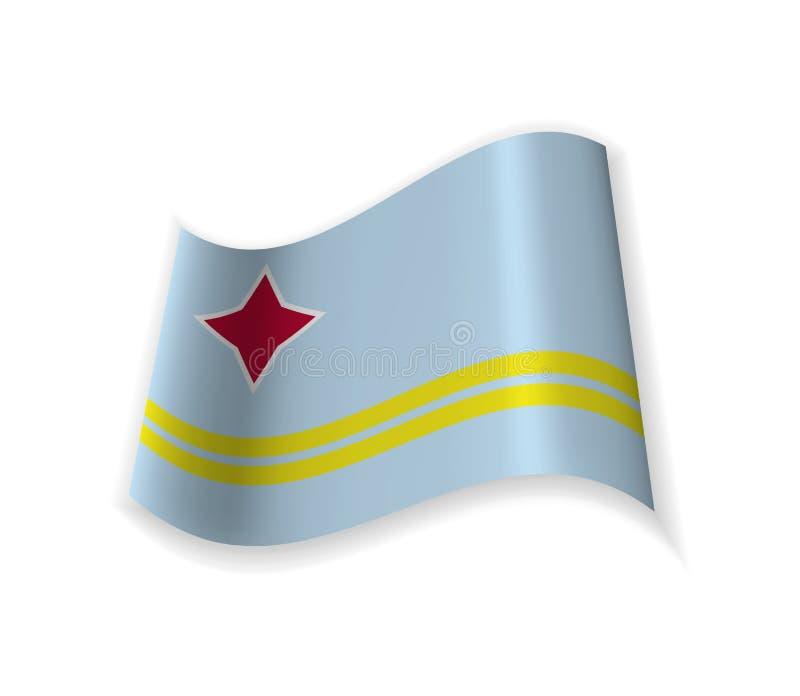 Flaggan av Aruba vektor illustrationer