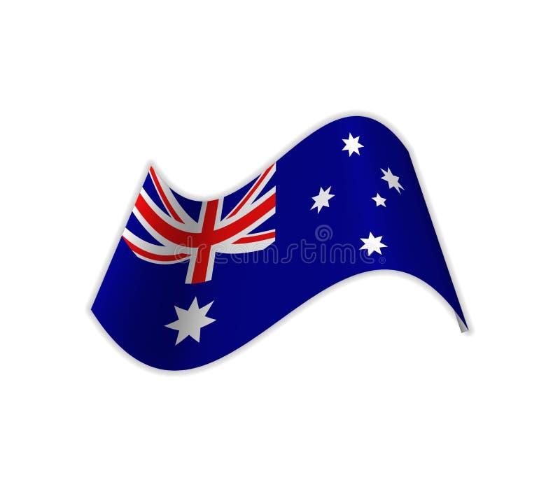 Flaggan av Australien vektor illustrationer