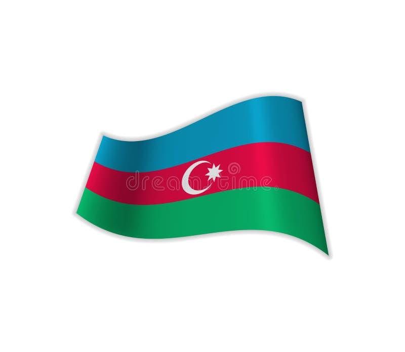 Flaggan av Azerbajdzjan vektor illustrationer