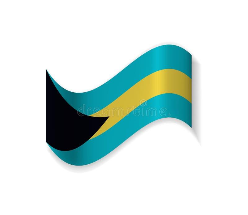 Flaggan av Bahamas stock illustrationer