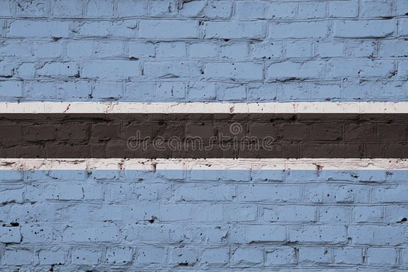 Flaggan av Botswana arkivfoto