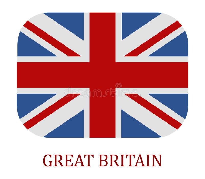 Flaggan av britain illustrerade stock illustrationer