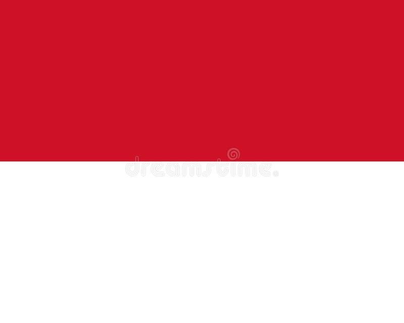 Flaggan av den Monaco representanten färgar och proportioner, bild royaltyfri illustrationer