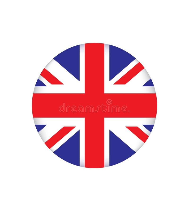 Flaggan av England är ett land som är delen av Förenade kungariket för illustrationsköld för 10 eps vektor stock illustrationer