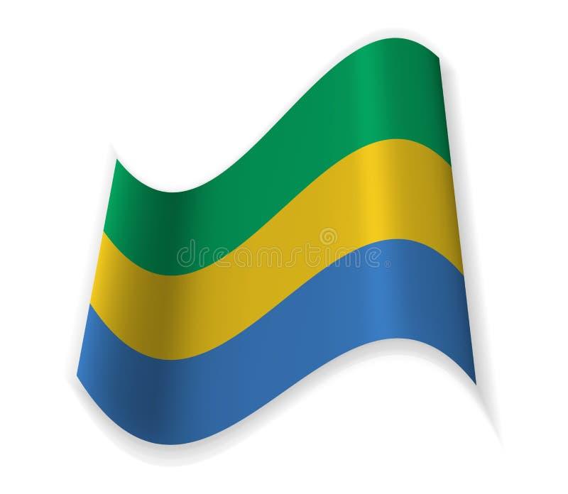 Flaggan av Gabon stock illustrationer