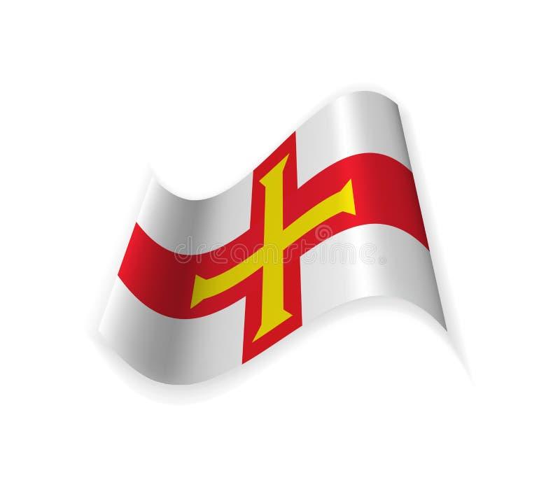 Flaggan av Guernsey royaltyfri illustrationer