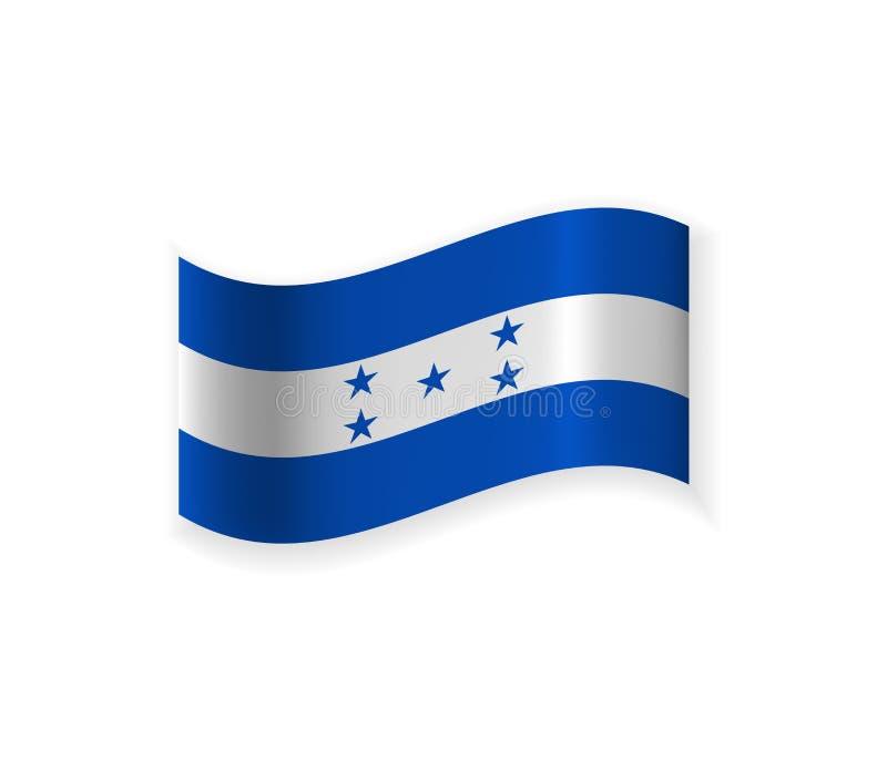 Flaggan av Honduras stock illustrationer