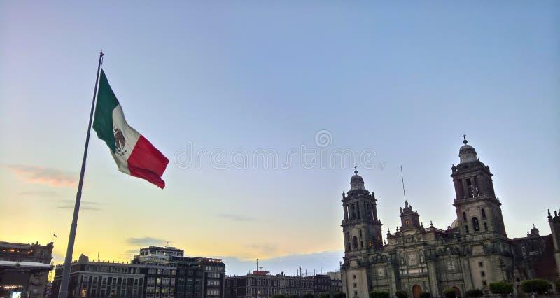 Flaggan av Mexico arkivfoto