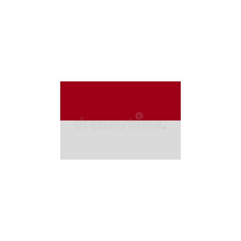flaggan av Monaco f?rgade symbolen Best?ndsdelar av flaggaillustrationsymbolen Tecknet och symboler kan anv?ndas f?r reng?ringsdu stock illustrationer