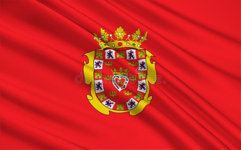 Flaggan av Murciaen, Spanien royaltyfri illustrationer