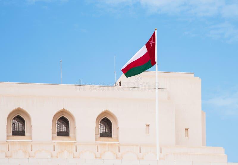 Flaggan av Oman fotografering för bildbyråer