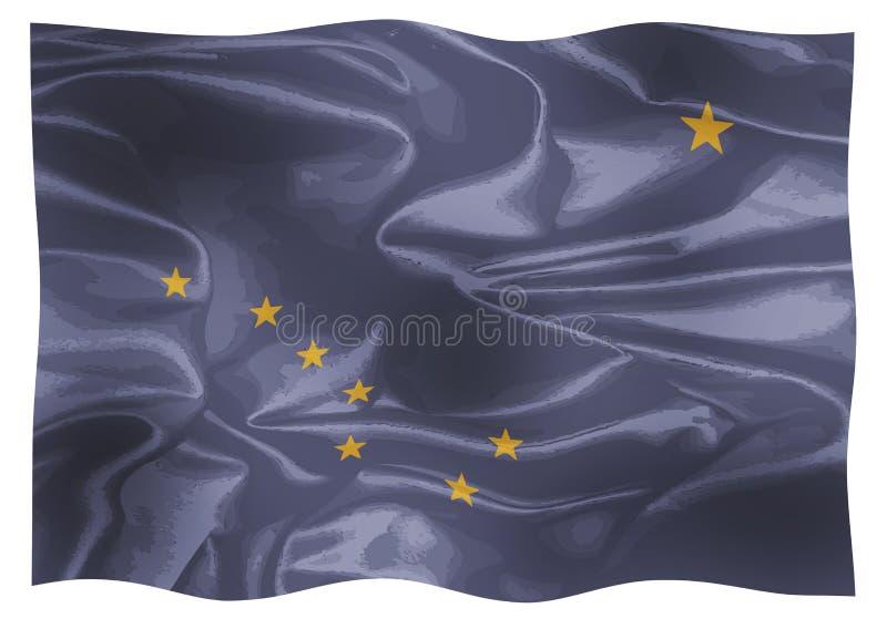 Flaggan av staten av Alaska royaltyfri illustrationer
