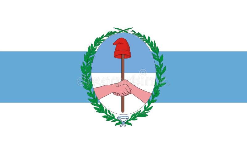 Flaggan av Tucuman är ett landskap i Argentina arkivbild
