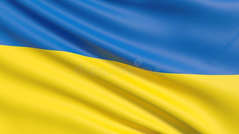 Flaggan av Ukraina royaltyfria foton