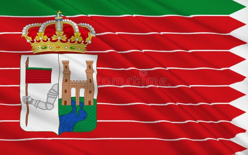 Flaggan av Zamora är en stad av västra Spanien royaltyfri illustrationer