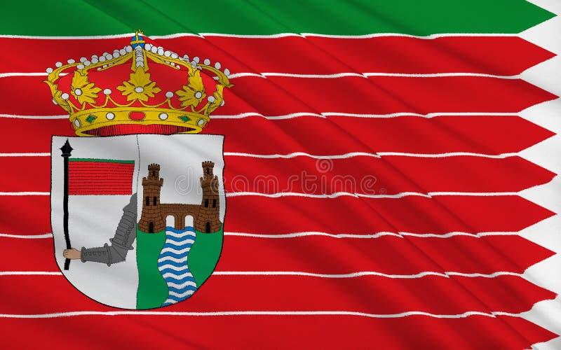 Flaggan av Zamora är en stad av västra Spanien arkivbilder