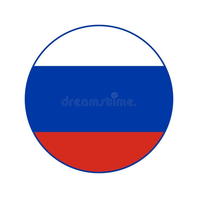 Flaggan för rysk federation rundade symbolen stock illustrationer