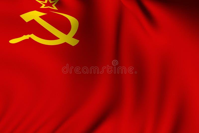 flaggan framförde sovjet royaltyfri illustrationer