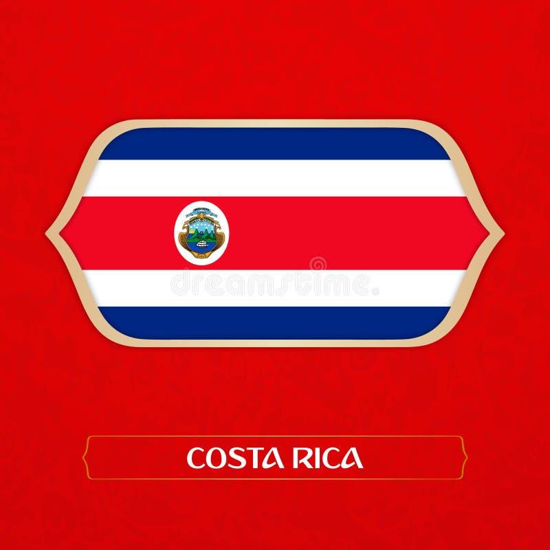 Flaggan göras i fotbollstil stock illustrationer