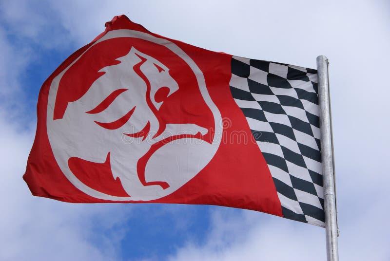 flaggan holden arkivbild