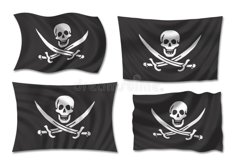 flaggan piratkopierar stock illustrationer