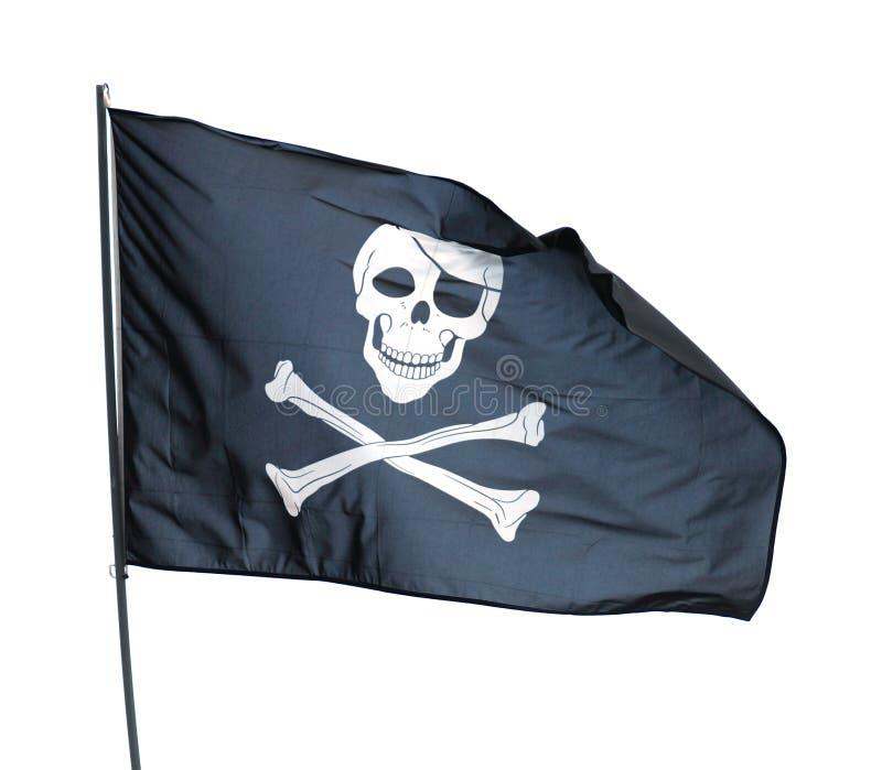 flaggan piratkopierar arkivbild