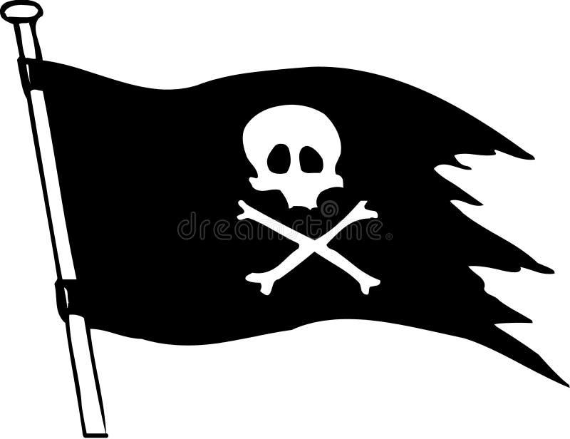 flaggan piratkopierar royaltyfri illustrationer