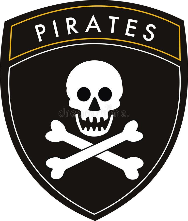 flaggan piratkopierar vektor illustrationer