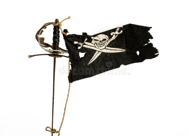 flaggan piratkopierar v?g royaltyfri bild
